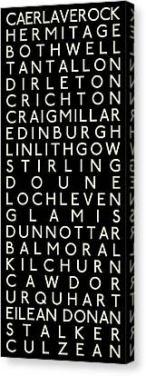 Castles Of Scotland Canvas Print by Chris Brown