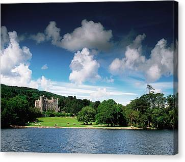 Castlewellan Castle & Lake, Co Down Canvas Print by The Irish Image Collection