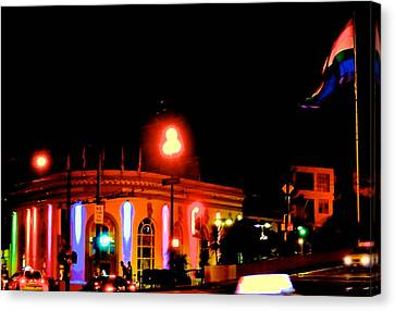 Castro Rainbows Canvas Print by Steven I Lanzet