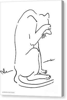 Cat-art-siamese-3 Canvas Print by Gordon Punt