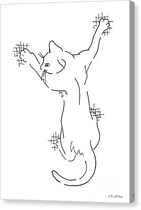 Cat Drawings 3 Canvas Print by Gordon Punt