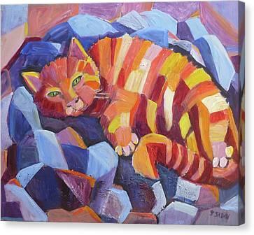 Cat Nap Canvas Print by Saga Sabin