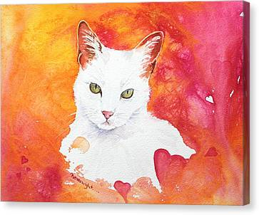 Cat Of Hearts Canvas Print