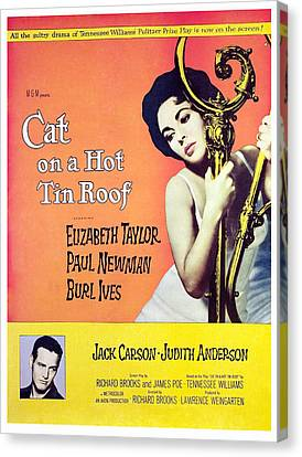 Cat On A Hot Tin Roof, Elizabeth Canvas Print by Everett