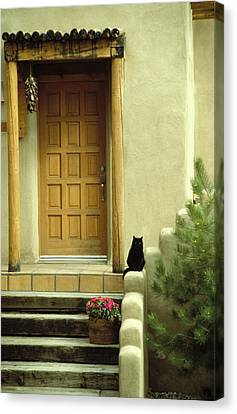 Cat Post Canvas Print by Brent L Ander