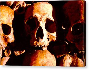 Catacombs In Paris Canvas Print by Julie VanDore