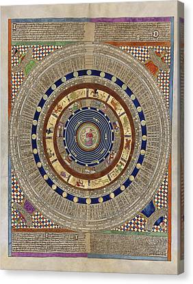 World System Canvas Print - Catalan Atlas, 14th Century by Library Of Congress