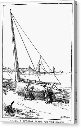 Catboat, 1882 Canvas Print by Granger