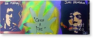 First Amendment Canvas Print - Catch A Fire by Tony B Conscious