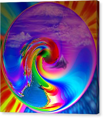 Sun Rays Canvas Print - Catch A Tasty Wave by Kevin Caudill