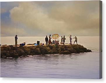 Canvas Print featuring the painting Catch Of The Day by Robert Smith