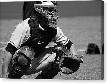 Catcher Posey Canvas Print by Eric Tressler