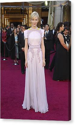 Cate Blanchett  Wearing A Givenchy Canvas Print