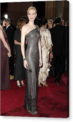 Cate Blanchett Wearing Armani Prive Canvas Print