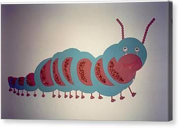 Caterpillar Canvas Print by Val Oconnor