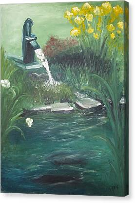 Canvas Print featuring the painting Catfish by Angela Stout