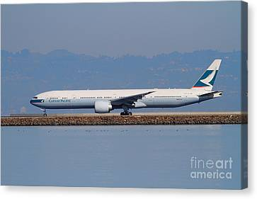 Cathay Pacific Airlines Jet Airplane At San Francisco International Airport Sfo . 7d11919 Canvas Print by Wingsdomain Art and Photography
