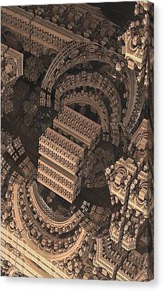 Science Fiction Canvas Print - Cathedral 1 Detail by Jacob Bettany
