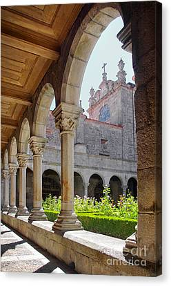 Cathedral Cloister Canvas Print by Carlos Caetano