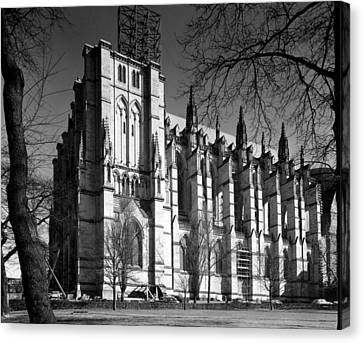 Cathedral Of Saint John The Divine, New Canvas Print by Everett