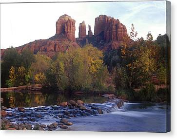 Canvas Print featuring the photograph Cathedral Rock by Darleen Stry