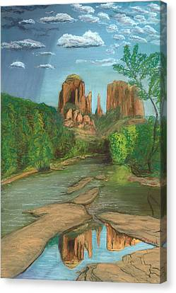 Cathedral Rock Sedona Canvas Print by Jackie Novak