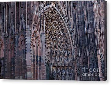 Catherdral In Strasbourg Germany Canvas Print by Bob Christopher