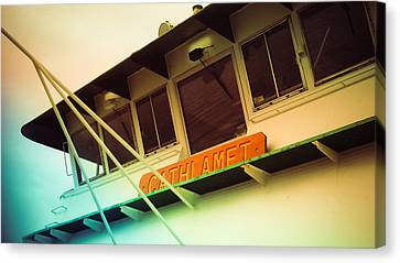 Whidbey Island Ferry Canvas Print - Cathlamet Ferry by Sam Hymas