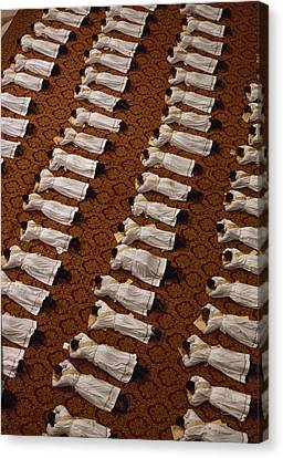 Catholic Clergy Prostrate Themselves Canvas Print by James L. Stanfield