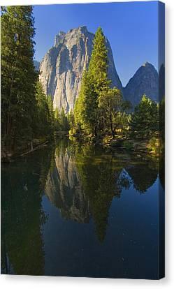 Cathredal Rocks Reflection Canvas Print by Joe Darin
