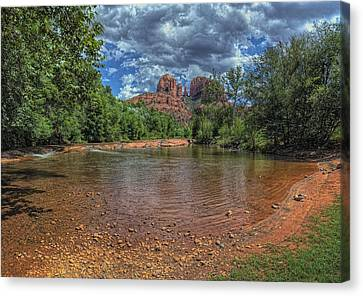 Brown White Sedona Trees Canvas Print - Cathredral by Stephen Campbell
