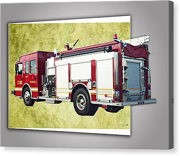 Catoosa Fire Engine 4 Canvas Print by Linda Deal