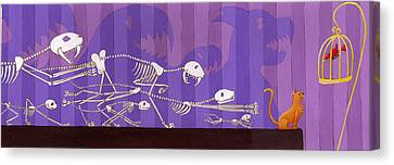 Cats Canvas Print by Christy Beckwith