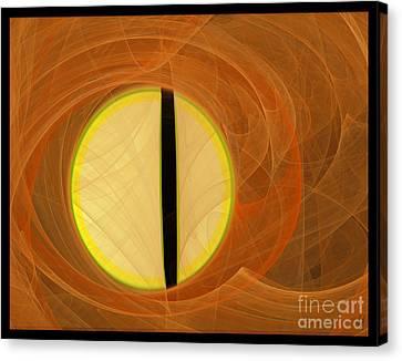 Canvas Print featuring the digital art Cat's Eye by Victoria Harrington