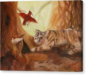 Cat's Hunt Canvas Print by Anna  Henderson