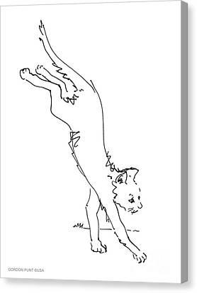 Cats-illustrations-prints-1 Canvas Print by Gordon Punt