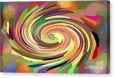 Cat's Tail In Motion. Stained Glass Effect. Canvas Print by Ausra Huntington nee Paulauskaite