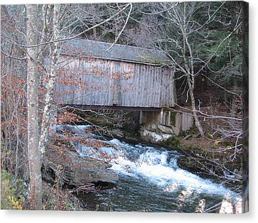 Catskill Covered Bridge Canvas Print by Kathryn Barry