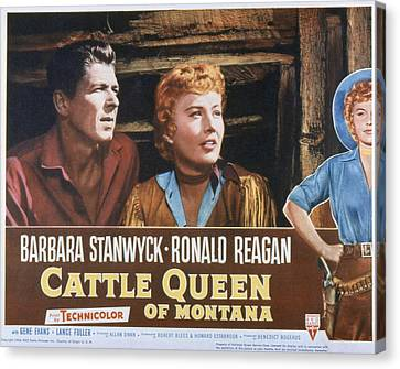 Cattle Queen Of Montana, Ronald Reagan Canvas Print by Everett