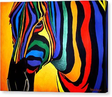 Cavallo Di Colore Canvas Print by Lynsie Petig