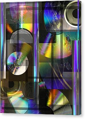 CDs Canvas Print by Andrew Sliwinski