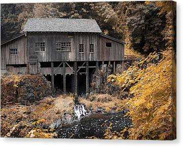 Cedar Creek Grist Mill Canvas Print by Steve McKinzie