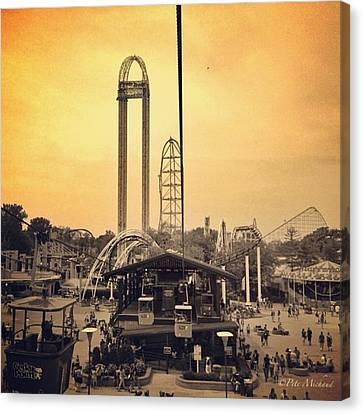 Instamood Canvas Print - #cedarpoint #ohio #ohiogram #amazing by Pete Michaud