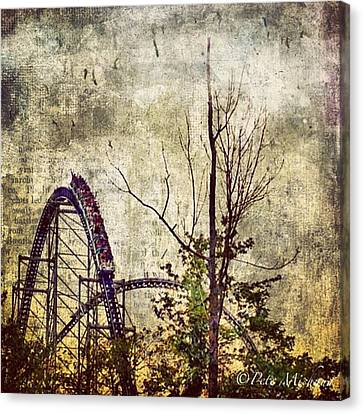 #cedarpoint #rollercoaster #ohio Canvas Print by Pete Michaud