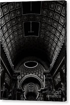 Canvas Print featuring the photograph Ceiling. Vatican by Tanya  Searcy