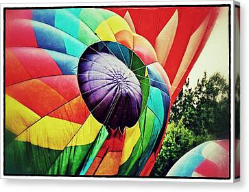 Canvas Print featuring the photograph Celebrate America Balloon Fest 1 by Jim Albritton