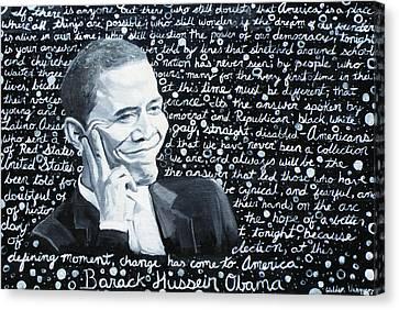 Celebrate Change Canvas Print by Welder Ramiro Vasquez