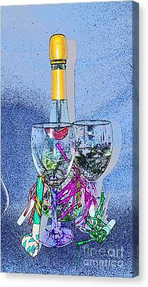Celebrate Sketchy Canvas Print by Lynda Dawson-Youngclaus