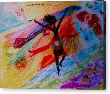 Celebration Of Life.. Be..2 Canvas Print by Rooma Mehra