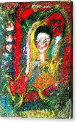 Celebration Of Life.. Be..3 Canvas Print by Rooma Mehra